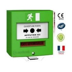 Détecteur manuel 1 contact vert avec capot (4710V3C)