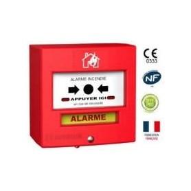 Détecteur manuel 2 contacts rouge désenfumage (4711R2)