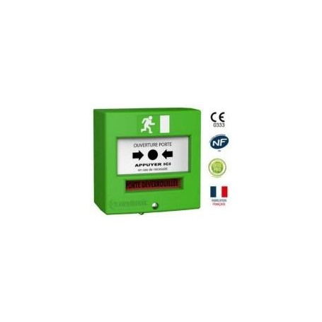 Détecteur manuel 2 contacts vert (4711V3)