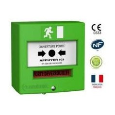 Déclencheur manuel vert + buzzer + led + CTC (4712V3)