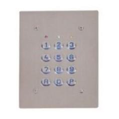 Clavier 4 Relais, 28 codes, touches plastiques, plaque inox (SU4-EAB)