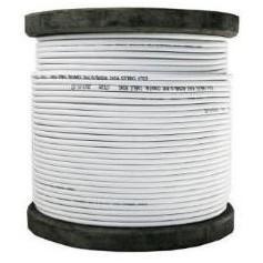 Bobine de 100 m de Câble coaxial KX6 blanc cuivre (COAX100M2BC PURE CUIVRE)