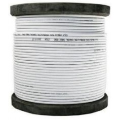 Bobine de 100 m de Câble coaxial KX6 blanc
