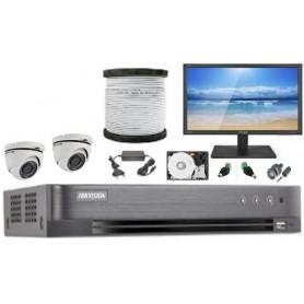 Kit Vidéosurveillance Haute définition HKVISION 2 Mini Dôme (KIT2MD-HK)