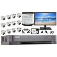 Kit Vidéosurveillance Haute définition HKVISION 16 Mini Dôme (KIT16MD-HK)