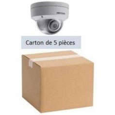 PACK HKVISION 5 Mini Dômes IP Focale fixe 2,8mm WDR 4MP (PACK5MDIP-FF4MP-HK)