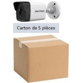 PACK HKVISION 5 Mini Tubes IP Focale fixe 2,8mm 2MP (PACK5MTIP-FF2MP-HK)