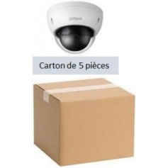PACK DAHUA 5 Mini Dôme IP POE Focale-fixe 2,8mm 2MP (PACK5MDIP-FF2MP-DH)
