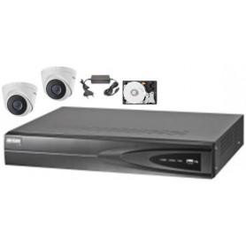 PACK NVR HKVISION 2 Mini Dômes IP POE (PACKNVR-2MDIP-HK)