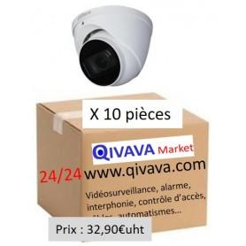 PACK DAHUA 10 Dômes Vari-focale motorisée 2,7mm 2MP (PACK10D-VFM2MP-DH)