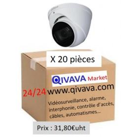 PACK DAHUA 20 Dômes Vari-focale motorisée 2,7mm 2MP