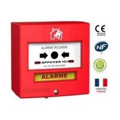 Détecteur manuel 1 contact rouge désenfumage (4710R2)