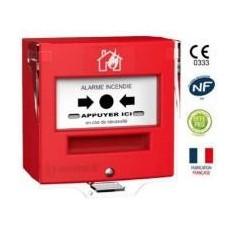 Détecteur manuel 2 contacts rouge + capot (4711R1C)