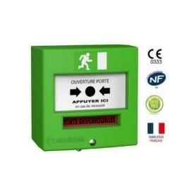 Détecteur manuel 2 contacts vert