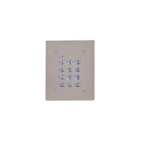 Clavier 2 Relais, 60 codes, touches plastiques, plaque inox (SU2-EAB)