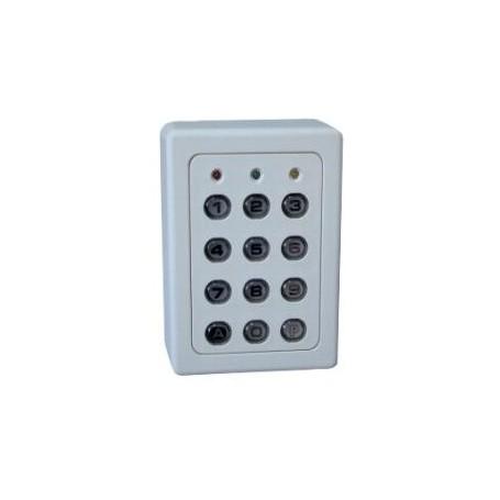 Clavier 1 Relais, 60 codes, touches métalliques, boitier ABS BEIGE (SU1-TME)