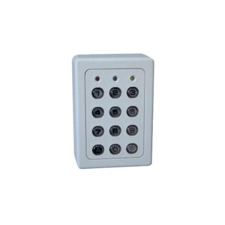 Clavier 4 Relais, 28 codes, touches métalliques, boitier ABS BEIGE (SU4-TME)
