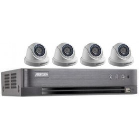 PACK DVR HKVISION 04 Mini dômes HD (PACKDVR4MDHD-HK)