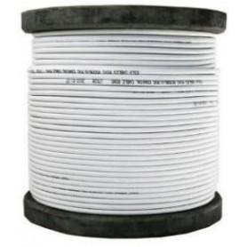 Bobine de 300 m de Câble coaxial KX6 blanc ( COAX300M2BC PURE CUIVRE)