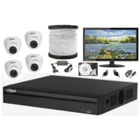 Kit Vidéosurveillance Haute définition DAHUA 4 Mini Dômes