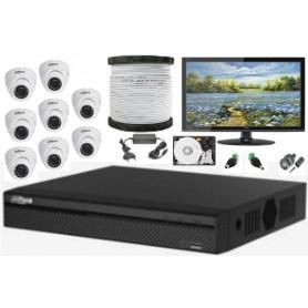 Kit Vidéosurveillance Haute définition DAHUA 8 Mini Dômes