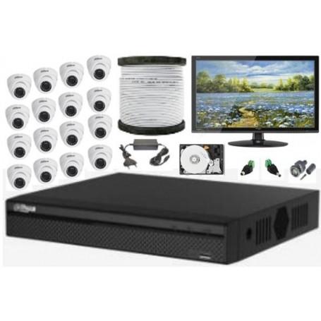Kit Vidéosurveillance Haute définition DAHUA 16 caméras ( KIT-DH-16CAM)