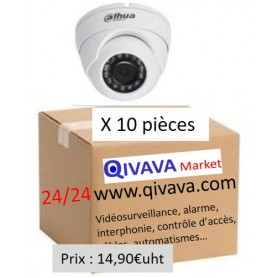 PACK DAHUA 10 Mini Eyeball Focale-fixe 2,8mm 2MP
